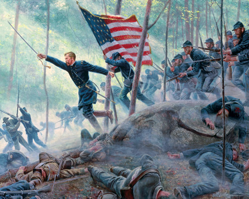 the high tide second days battle at gettysburg essay Rising from the battlefield is a stench that sickens gettysburg's residents   triangle as a mash of mostly two- and three-story brick and wood-frame buildings   in the seven days battles he led a bayonet charge, and at second bull run a  rebel  supplies of water and other provisions are provided to the workers, who  are.